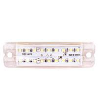 Повторитель габарита (палец двойной) 18 LED 12/24V белый 20*100*10мм (TH-182-white)