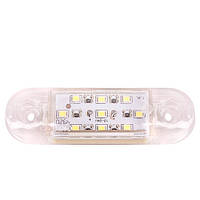Повторитель габарита (палец широкий) 9 LED 12/24V белый 25*88*14мм (TH-92-white)