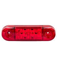 Повторитель габарита (палец широкий) 9 LED 12/24V красный 25*88*14мм (TH-92-red)