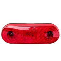 Повторитель габарита (овал) 18 LED 12/24V красный (TH-1830-red)