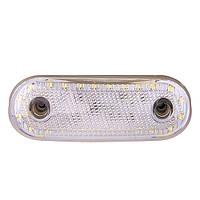Повторитель габарита (овал) 24 LED 12/24V белый (TH-2420-white)
