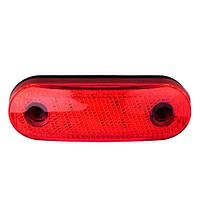 Повторитель габарита (овал) 24 LED 12/24V красный (TH-2420-red)