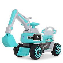 Трактор M 4068R-4  р/у2,4G, экскаватор, 1мотор25W, 1аккум6V5AH, муз, свет,голубой