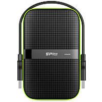 """Зовнішній жорсткий диск 1TB Silicon Power Armor A60 Black (SP010TBPHDA60S3K/1TB/2.5""""/USB 3.0), фото 1"""