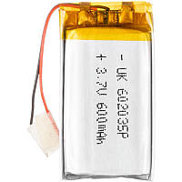 Polymer battery 20*35*6 (600mAh), фото 1