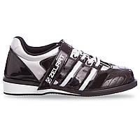 Штангетки взуття для важкої атлетики PU чорно-білі OB-1265 39 (25,5 см)