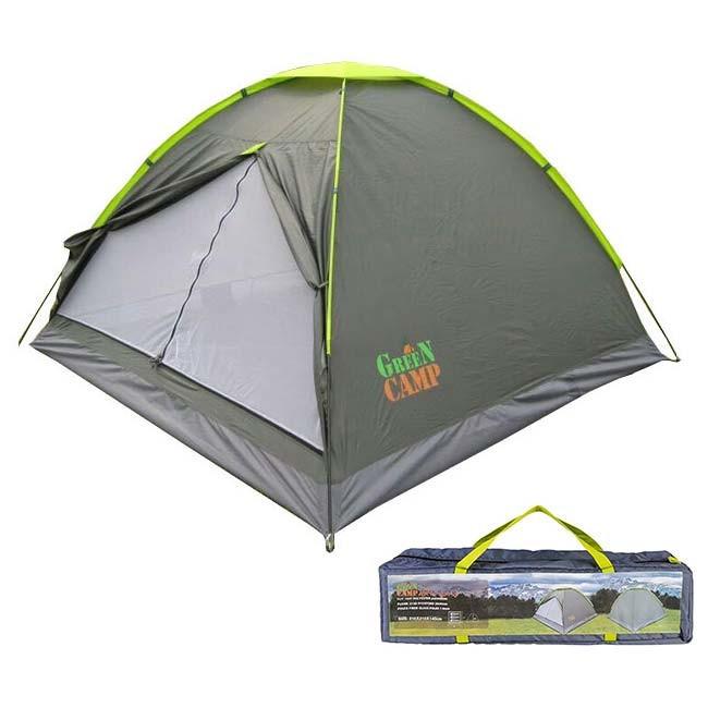 Туристическая трехместная палатка GreenCamp 1012 OF
