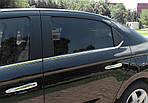 Citroen C-Elysee 2012↗ рр. Окантовка вікон (нерж.) 6 шт, OmsaLine (з кватиркою)