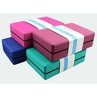 Йога-блок, цеглинка для йоги 3158/W (450гр)