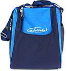 Спортивна сумка 59 л Wallaby 447-8 синій з блакитним, фото 4