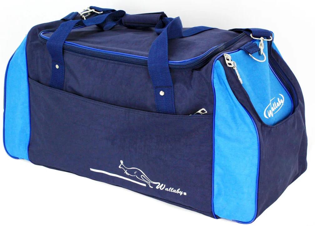 Спортивна сумка 59 л Wallaby 447-8 синій з блакитним