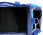 Спортивна сумка 59 л Wallaby 447-8 синій з блакитним, фото 6