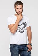 ТМ Ghazel Футболка мужская белая Cobra Ghazel