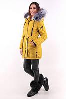 TM Ozze Куртка женская парка зимняя №1 желтая OZZE