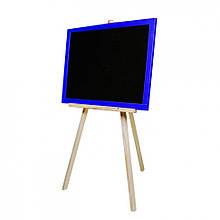 Доска для рисования на треноге M326040/1/2/3  двусторонняя 60 * 40  магнитная  (Синий)