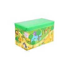 Корзина для игрушек MR 0362 пуф 61-31-35см (Зверушки Зоопарк)