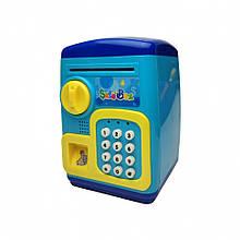 Детская Копилка MK 4629 Сейф с кодом 19х24х15 см (Синий)