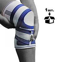 Наколінник спортивний Power System Knee Support Pro PS-6008 Blue/White S/M, фото 1