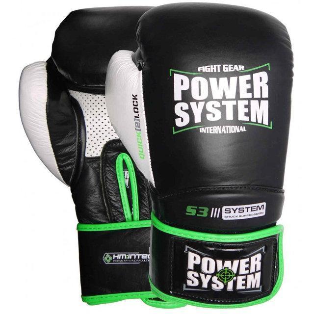 Боксерські рукавички PowerSystem PS 5004 Impact Black 10 унцій