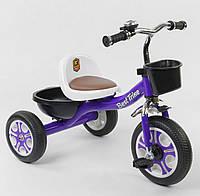 Дитячий Триколісний Велосипед для дітей Гномик зі сталевою рамою, колеса EVA, BestTrike фіолетовий арт. 1355, фото 1