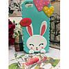 Чохол Cute Heart Hello Rabbit Зелений для IPhone 5/5S, фото 4