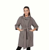 TM Ozze Пальто женское Д 240 Люкс серое OZZE