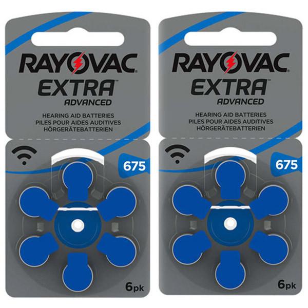 Батарейки для слуховых аппаратов Rayovac Extra 675 (12 шт)