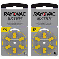 Батарейки для слуховых аппаратов Rayovac EXTRA 10 (12шт)