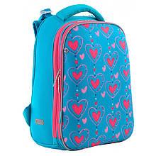 """Рюкзак шкільний каркасний 1 Вересня H-12 """"Romantic hearts"""" 38*29*15 см 556034"""
