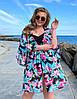 Шифоновая пляжная туника женская большого размера, с 52-62 размер