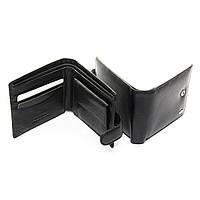 Кошелек портмоне бумажник мужской кожаный черный на кнопке с монетницей внутри Dr. Bond MS-28 11,5х9,5х2,5 см