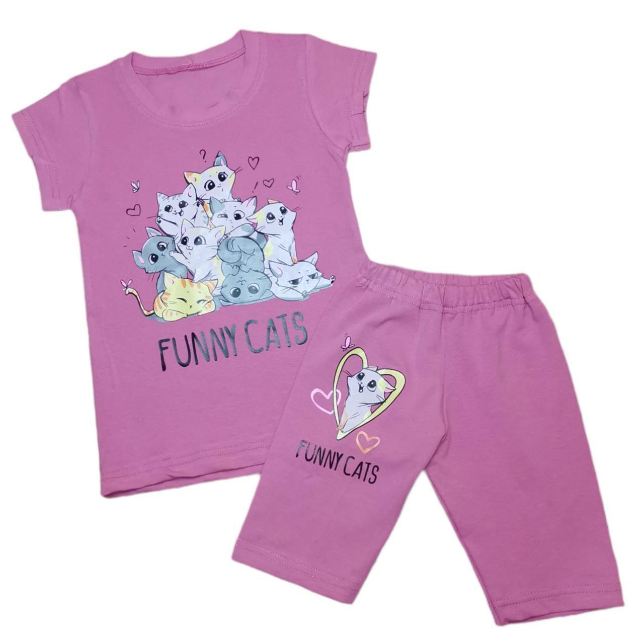 Літній комплект для дівчинки Funny Cats фулікра