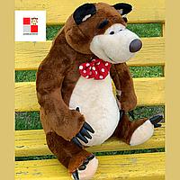 """Детская музыкальная мягкая игрушка медведь из мультфильма """"Маша и Медведь"""" ВИДЕО ОБЗОР, Высота 50 см"""