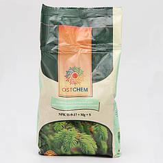 Комплексное удобрение для хвойных растений NPK 11-9-17, упаковка 1 кг Ostchem