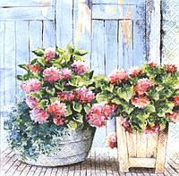 Салфетка декупажная Кадки с цветами 5418