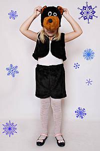 Дитячий Карнавальний хутряний костюм Ведмідь, костюм ведмедика, новорічні костюми