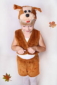 Дитячий Карнавальний хутряний костюм Собачка, костюм собачки, новорічні костюми