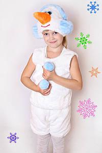 Дитячий Карнавальний хутряний костюм Сніговика, сніговичок, новорічні костюми