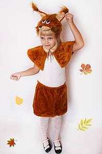 Дитячий Карнавальний хутряний костюм Білочка, костюм білочка, новорічні костюми