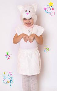 Дитячий Карнавальний хутряний костюм Кішка, костюм кішечка, новорічні костюми
