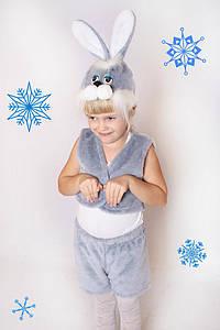 Дитячий Карнавальний хутряний костюм Зайчик, костюм зайчика, новорічні костюми