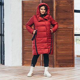 Куртка зимова жіноча великого розміру 71 (3 кольори), зимова жіноча куртка великого розміру