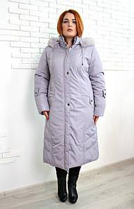 Пальто женское большого размера зимнее евро Анжелика, жіноче пальто зимове великого розміру