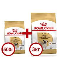 Royal Canin Pug 3кг+0,5кг корм  для мопсов