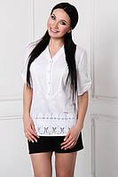 ТМ Ghazel Рубашка женская Прошва белая Ghazel