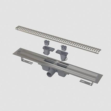 Водоотводящий желоб с порогами для перфорированной решетки,  750мм, фото 2