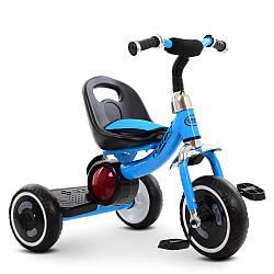 Трехколесный велосипед  Turbo Trike с подсветкой голубой  M 3650-4