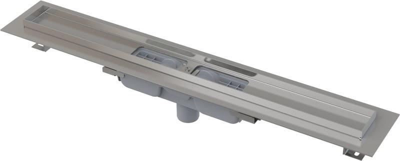 Водоотводящий жолоб з краєм для перфорованої решітки з нерухомим коміром до стіни, 750мм