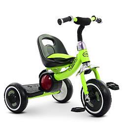 Трехколесный велосипед  Turbo Trike с подсветкой салатовый M 3650-5