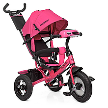 Велосипед M 3115-6HA три кол.рез (12/10)колясочный,своб.ход кол,муз,свет,торм.подшипн,розовый